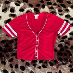 3 for $20😍💎Red and White Crop Top